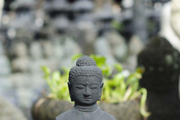 Yuli Yudhistira Stone Carving Casting Budha Half body