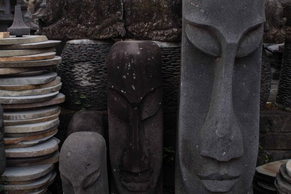 lava stone statue bali