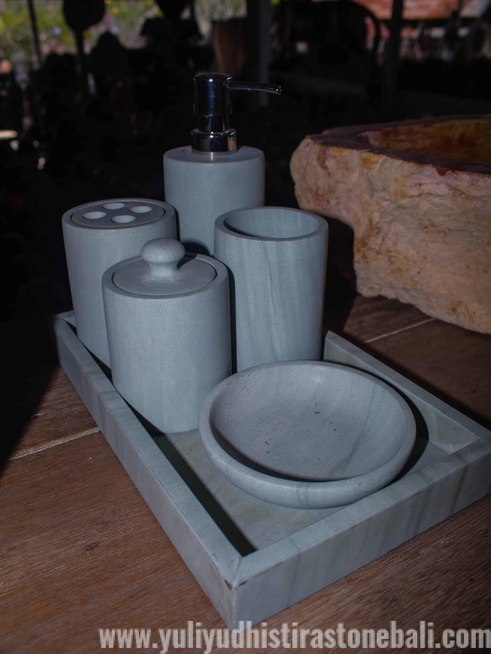 Set Soap Dispenser from Marble