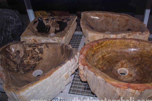 petrified wood sink for sale Bali