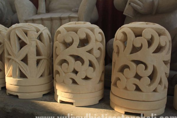 Lantern Statue Limestone Carving