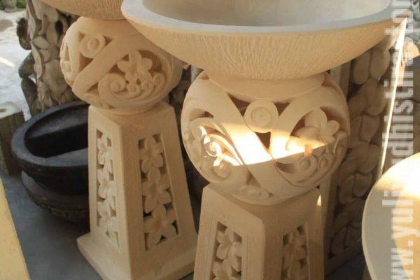 Limestone Carving for Garden Decor