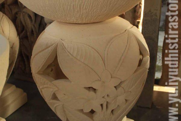 Bowl Limestone Carving Bali