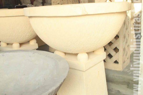 Bowl Garden Decor Limestone Carving