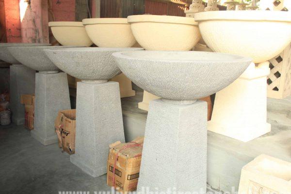 Stone Bowls Garden Decor