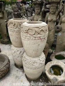 Carved Stone Pots