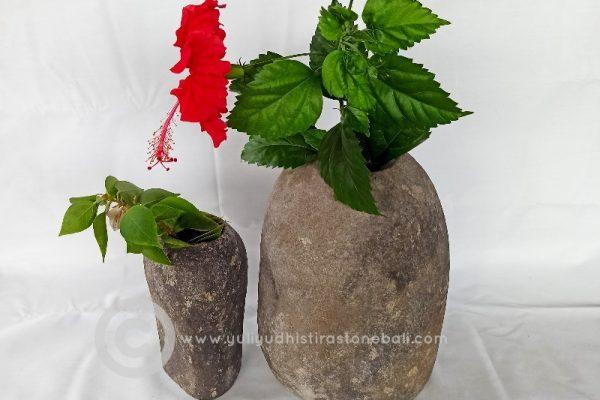 stone pots bathroom