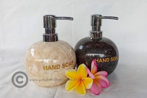 hand soap dispenser from marble