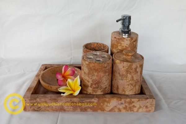 soap dispenser brown from marble