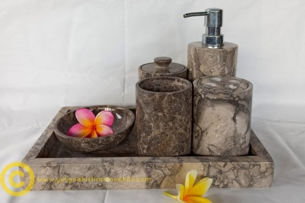 soap dispenser from stone grey